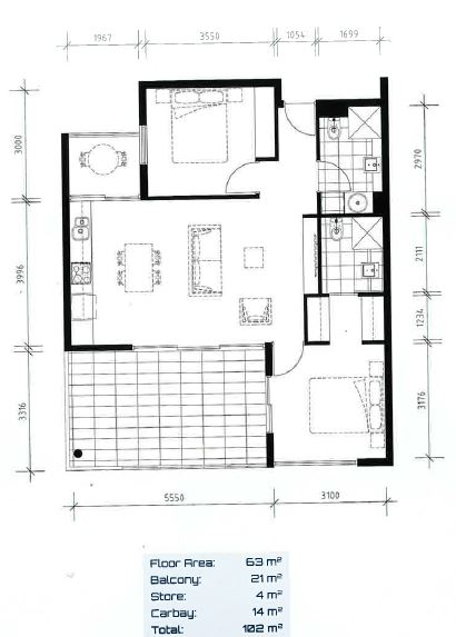 Floor plan Meridian Apartment